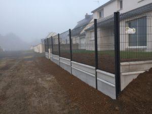 Clôture en panneaux rigides / Grillage